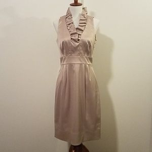 NWT Taylor silk ruffle dress